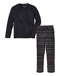 Jacamo Fleece Print Long PJ Set