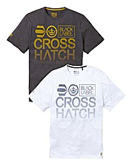 Crosshatch Pack of Two T-shirts