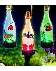 Set of 3 Solar Bottle Lantern Lights