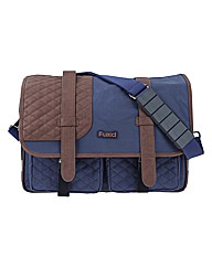 Quilted Satchel Bike Bag Navy