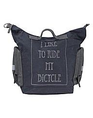 Slogan Tote Bike Bag Black