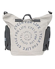 Slogan Tote Bike Bag Stone