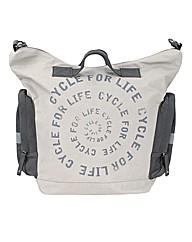 Slogan Tote Bike Bag Stone