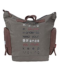 Slogan Tote Bike Bag Khaki