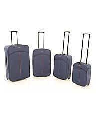Four Piece Navy Luggage Set
