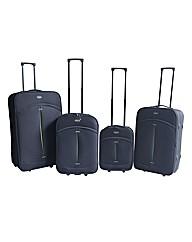 Four Piece Black Luggage Set