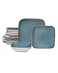 12 Piece Serenity Square Dinner Set