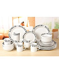 24 Piece Script Dinner Set
