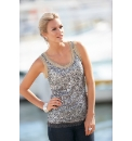 Passport Sequin Sleeveless Top