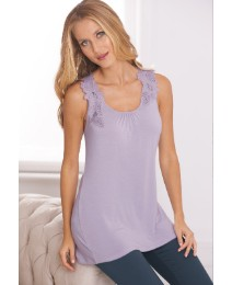 Anise Applique Sleeveless Jersey Top