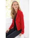 Anise Knitted Jacket With Grosgrain Trim