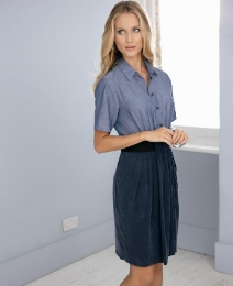 Anise Chambray Shirt Dress