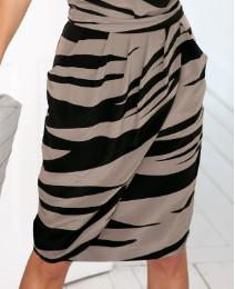 Anise Animal Print Silk Tulip Skirt