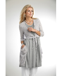 Vetono Linen Mix Waterfall Cardigan