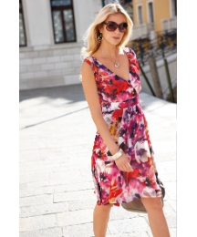 Anise Chiffon Mock Wrap Dress