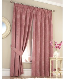 Candice Woven Jacquard Lined Curtains