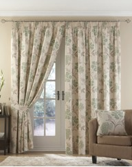 Celeste Lined Pencil Pleat Curtains