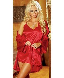 Dreamgirl Satin Wrap&Chemise 28/30-32/34
