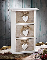 Rustic Heart 3 Drawer Chest