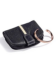 Leather Purse & Copper Bangle