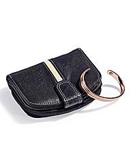 Leather Purse & Copper Bangle
