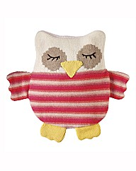 Knitted Owl Snuggle Hottie