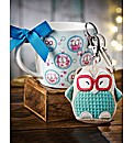 Blue Owl & Keyring Set