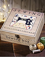 Square Vintage Sewing Box