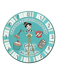 Personalised Retro Kitchen Recipe Clock