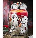 Yankee Large Jar with Snowman Sleeve