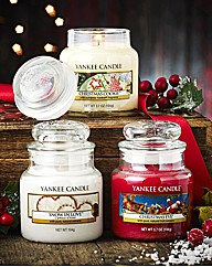 Yankee Set of 3 Festive Small Jars