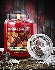 Mandarin Cranberry Large Jar Candle