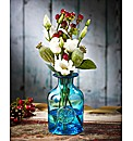Crystal Turquoise Mini Flower Bottle