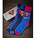 Superman Socks In Gift Tin