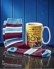 Dads Army Stupid Boy Mug & Socks Set