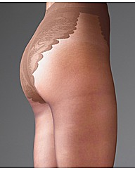 Sculptz Lacy High Cut Tights