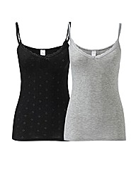 Naturally Close Pack of 2 Thermal Cami