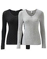 Naturally Close Pack of 2 Thermal Vests