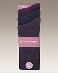 Pack of 6 Ladies Plain Socks