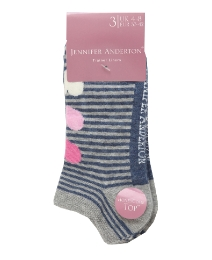 Pack of 6 Ladies Jacquard Trainer Socks