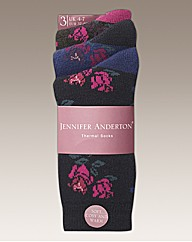 Pack of 6 Ladies Thermal Socks