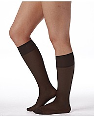 Pack 6 15 Denier Knee High Tights
