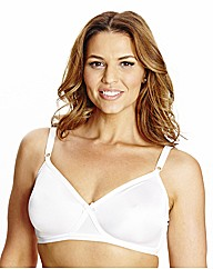 Shapely Figures White Single Claire Bra