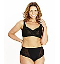 Shapely Figures Black Ava Non-Wired Bra