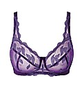 Shapely Figures Purple Ava Non-Wired Bra