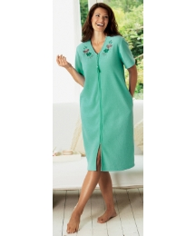 Shapely Figures Zip Fleece Gown L44