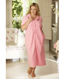 Shapely Figures Zip Fleece Gown L48