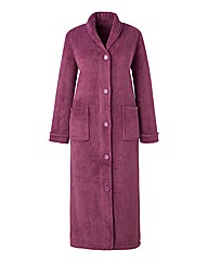 Pretty Secrets Button Fleece Gown L48