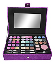 Purple Glitter Jewel Make Up Case
