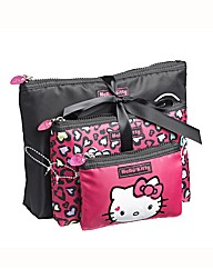 Hello Kitty Leopard 3 Cosmetic Bag Set
